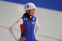 SCHAATSEN: ERFURT: Gunda Niemann Stirnemann Eishalle, 22-03-2015, ISU World Cup Final 2014/2015, Mass Start Ladies, Heather Richardson (#15 | USA), ©foto Martin de Jong