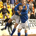 20040313     Copyright Pic : James Stewart.File Name : jspa08_stjohn_v_ict..KEIGAN PARKER CELEBRATES WITH CHRIS HAY AFTER SCORING ST JOHNSTONE'S LATE WINNER........James Stewart Photo Agency 19 Carronlea Drive, Falkirk. FK2 8DN      Vat Reg No. 607 6932 25.Office     : +44 (0)1324 570906     .Mobile  : +44 (0)7721 416997.Fax         :  +44 (0)1324 570906.E-mail  :  jim@jspa.co.uk.If you require further information then contact Jim Stewart on any of the numbers above.........