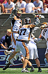 23 August 2008: The Rochester Rattlers celebrate victory over the Philadelphia Barrage during the Semi-Finals of the Major League Lacrosse Championship Weekend at Harvard Stadium in Boston, MA. The Rattlers defeated the Barrage 16-15 in sudden death overtime, advancing to the upcoming Championship Game...Mandatory Photo Credit: Ed Wolfstein Photo