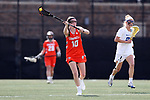 DURHAM, NC - FEBRUARY 16: Campbell's Megan Reilly. The Duke University Blue Devils hosted the Campbell University Camels on February 16, 2018, at Koskinen Stadium in Durham, NC in women's college lacrosse match. Duke won the game 18-8.