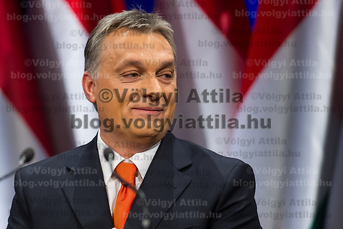 Viktor Orban prime minister of Hungary talks during his annual state-of-the-nation speech in Budapest, Hungary on February 22, 2013. ATTILA VOLGYI
