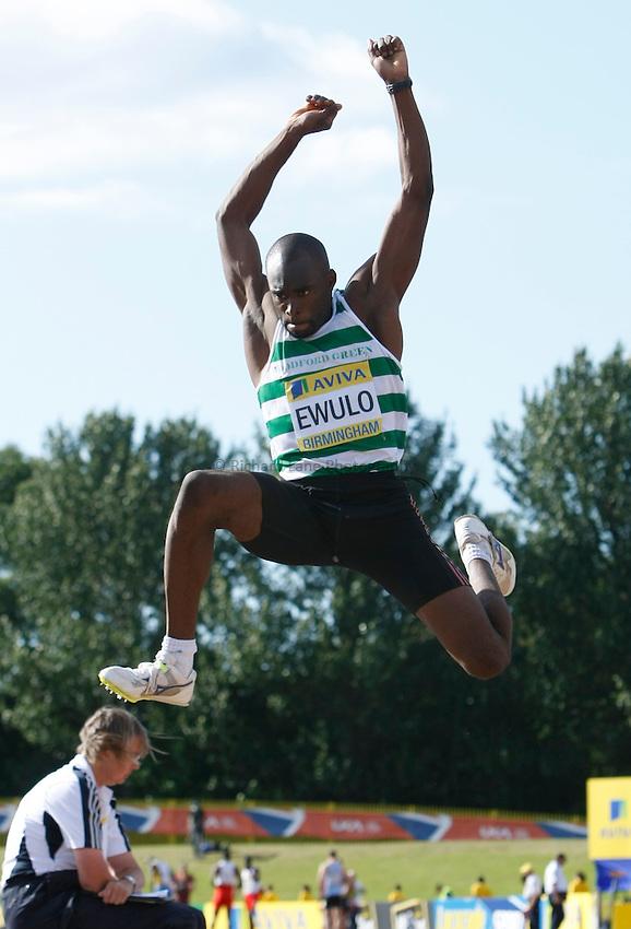 Photo: Steve Bond/Richard Lane Photography..Aviva World Trials & UK Championships athletics. 12/07/2009. Ezekiel Ewulo, men's long jump..