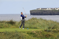 Paul O'Hara (Kilkenny) on the 4th tee during Matchplay Round 1 of the South of Ireland Amateur Open Championship at LaHinch Golf Club on Friday 22nd July 2016.<br /> Picture:  Golffile | Thos Caffrey<br /> <br /> All photos usage must carry mandatory copyright credit   (© Golffile | Thos Caffrey)