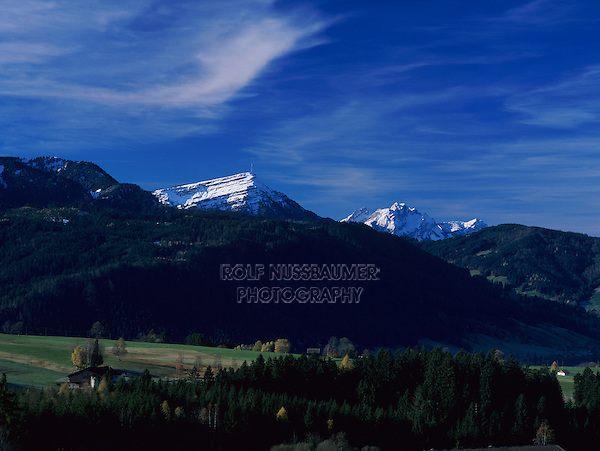 Rigi and Pilatus Mountains, Oberaegeri, Zug, Switzerland,