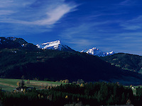 Rigi and Pilatus Mountains, Oberaegeri, Zug, Switzerland,
