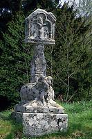 Europe/France/Limousin/19/Corrèze/Plateau de Millevaches/Peyrelevade : Croix du calvaire