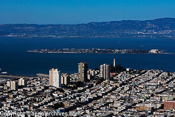 aerial photograph of Telegraph Hill to Treasure Island, San Francisco