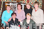 CELEBRATE: Listowel ladies celebrating women's Christmas in the Horse Shoe bar, Listowel on Sunday night were front l-r: Margaret Kelliher and Chris Heffernan. Back l-r: Peg Heffernan, Bina Stack, Mary Somers and Noreen Hillard.   Copyright Kerry's Eye 2008