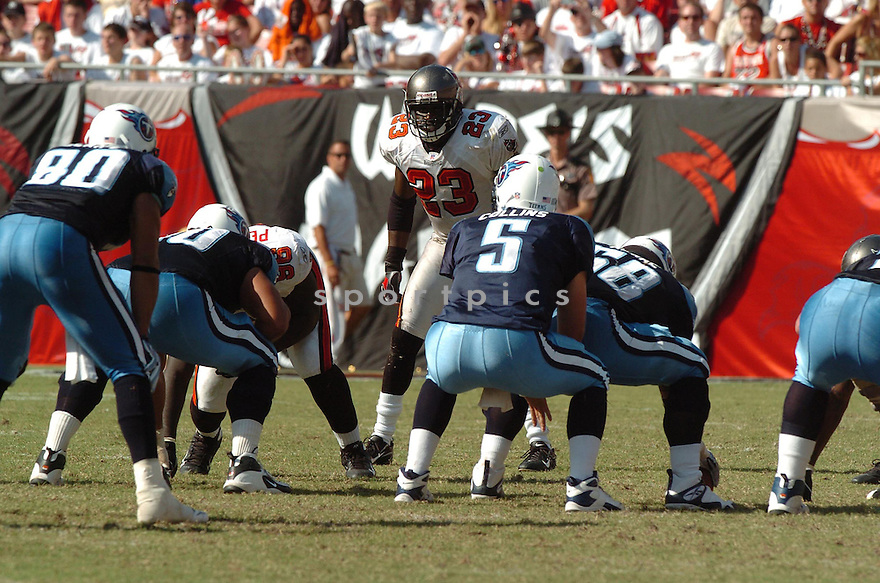 JERMAINE PHILLIPS, of the Tampa Bay Buccaneers , in action during the Buccaneers games against the Tennessee Titans, in Tampa Bay, FL on October 14, 2007.  ..The Buccaneers won the game 13-10...COPYRIGHT / SPORTPICS..........