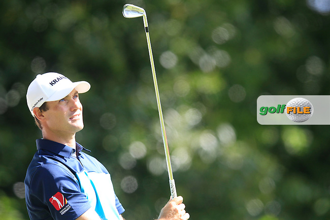 Florian FRITSCH (GER) during round 1 of the 2015 BMW PGA Championship over the West Course at Wentworth, Virgina Water, London. 21/05/2015<br /> Picture Fran Caffrey, www.golffile.ie: