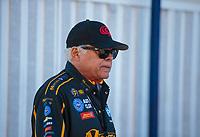 Feb 11, 2019; Pomona, CA, USA; NHRA former funny car driver Don Prudhomme during the Winternationals at Auto Club Raceway at Pomona. Mandatory Credit: Mark J. Rebilas-USA TODAY Sports