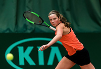 Wateringen, The Netherlands, March 9, 2018,  De Rijenhof , NOJK 12/16 years, Danique Havermans (NED)<br /> Photo: www.tennisimages.com/Henk Koster