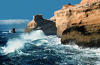 Heavy Surf at Cape Kiwanda; Oregon coast; sandstone sea stacks; Pacific Ocean. Pacific City Oregon United States Coast.