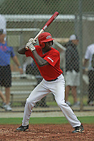 Anfernee Grier, #7 of Russell County High School, Alabama playing for the Marucci Elite during the WWBA World Champsionship 2012 at the Roger Dean Complex on October 25, 2012 in Jupiter, Florida. (Stacy Jo Grant/Four Seam Images).