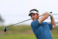 Emilio Cuartero Blanco (ESP) on the 1st tee during Round 1 of the Challenge de Madrid, a Challenge  Tour event in El Encin Golf Club, Madrid on Wednesday 22nd April 2015.<br /> Picture:  Thos Caffrey / www.golffile.ie