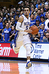 30 November 2014: Duke's Tyus Jones. The Duke University Blue Devils hosted the West Point Military Academy Army Black Knights at Cameron Indoor Stadium in Durham, North Carolina in a 2014-16 NCAA Men's Basketball Division I game. Duke won the game 93-73.