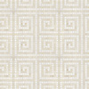 Spartan Maze, a hand-cut stome mosaic, shown in polished Heavenly Cream and Thassos.