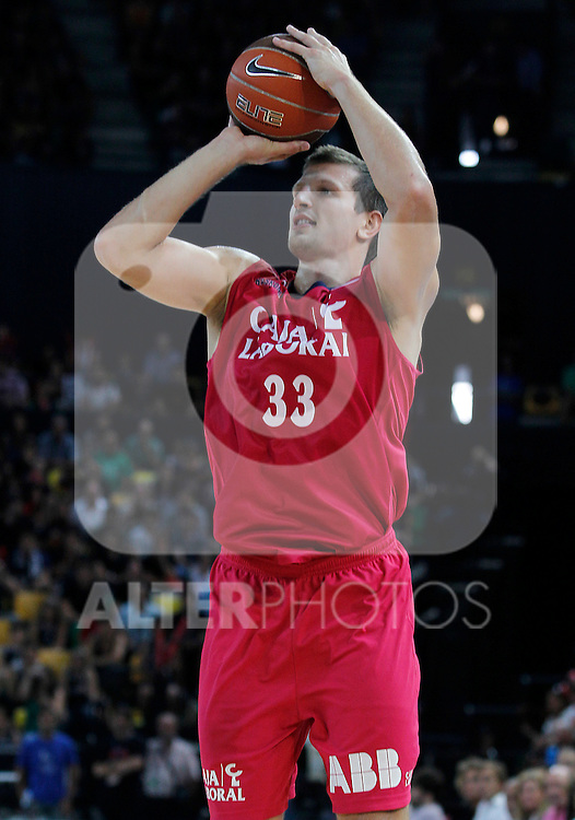 Caja Laboral's Mirza Teletovic during Supercopa ACB Semifinal match.September 30,2011. (ALTERPHOTOS/Acero)