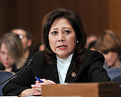 Washington, D.C. - January 9, 2009 -- United States Representative Hilda L. Solis (Democrat of California) testifies before the United States Senate Committee on Health, Labor, Education, and Pensions on her nomination to be United States Secretary of Labor in Washington, D.C. on Friday, January 9, 2009..Credit: Ron Sachs / CNP