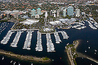 aerial photograph marina Dinner Key Coconut Grove Miami Florida