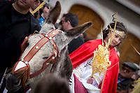 Domingo de Ramos, procesión de la Borriquilla y Pregón