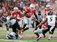 Ohio State Buckeyes running back Rod Smith (7) makes a move during the first quarter of Saturday's NCAA Division I football game at Ohio Stadium in Columbus on September 27, 2014. (Columbus Dispatch photo by Jonathan Quilter)