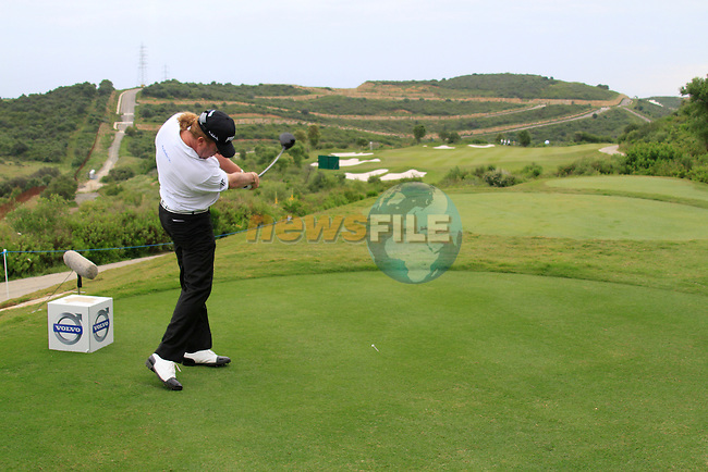 Miguel Angel Jimenez (ESP) tees off at the 8th tee during Day 2 of the Volvo World Match Play Championship in Finca Cortesin, Casares, Spain, 20th May 2011. (Photo Eoin Clarke/Golffile 2011)