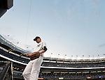 Masahiro Tanaka (Yankees), JUNE 9, 2015 - MLB : New York Yankees starting pitcher Masahiro Tanaka returns his<br /> side's bench during a baseball game against the Washington Nationals at Yankee Stadium in New York, United States. (Photo by AFLO)