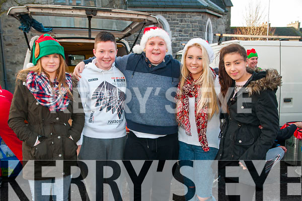 Listowel Parade: Pictured at the Annual Christmas parade in Lisowel on Sunday last were Bryony Kelly, Ciaran O'Connor, Jayden prendeville, Kayla Lyons & Rebecca Bambury.