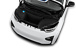 Car Stock 2017 BMW i3 Range-Extender 5 Door Hatchback Engine  high angle detail view