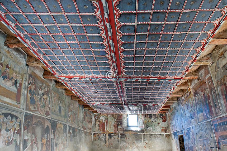 France, Savoie (73), Bessans, chapelle Saint-Antoine, les fresques // France, Savoie, Bessans, chapel St Antoine, frescoes