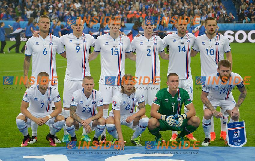 Formazione Islanda Team Line Up Iceland <br /> Paris 03-07-2016 Stade de France Football Euro2016 France - Iceland / Francia - Islanda Quarter finals <br /> Foto Federico Pestellini / Panoramic / Insidefoto