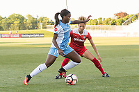 Boyds, MD - Saturday June 03, 2017: Nichelle Prince, Estelle Johnson during a regular season National Women's Soccer League (NWSL) match between the Washington Spirit and Houston Dash at Maureen Hendricks Field, Maryland SoccerPlex.