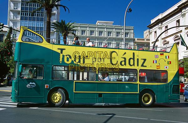 Cadiz tourists? bus, Cadiz, Spain