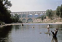 View of the Pont du Gard aqueduct, Vers-Pont-du-Gard, Early 1st Century AD
