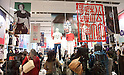 "Instore displays promte the Shochiku Kabuki Uniqlo project, Mar 26, 2015 : Uniqlo starts ""Shochiku Kabuki Uniqlo project"" at Uniqlo's flagship Ginza store in Tokyo Japan on 26 Mar 2015"