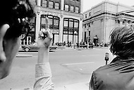 New Haven, CT. May 2nd 1970 Yale University.<br /> Yale students and protesters from around the US are demonstrating on the Yale University campus in support of the Black Panther Party while several party leaders, including cofounder Bobby Seale are on trial.