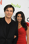 """Prospect Park's All My Children's Vincent Irizarry """"David Hayward"""" with girlfriend Donna Petracca on the Red Carpet at New York Premiere Event for beloved series """"All My Children"""" on April 23, 2013 at NYU Skirball, New York City, New York  as The Online Network (TOLN) - AMC - OLTL  begin airing on April 29, 2013 on Hulu, Hulu Plus. (Photo by Sue Coflin/Max Photos)"""