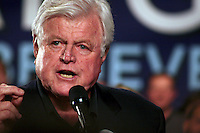 Late senator Edward Kennedy, enthusiastically supporting candidate Obama prior to his election.