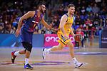 League ACB-ENDESA 2017/2018 - Game: 12.<br /> FC Barcelona Lassa vs Herbalife Gran Canaria: 77-88.<br /> Adan Hanga vs Gal Mekel.