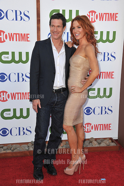 Poppy Montgomery & Dylan Walsh, stars of Unforgettable, at the CBS Summer 2011 TCA Party at The Pagoda, Beverly Hills..August 3, 2011  Los Angeles, CA.Picture: Paul Smith / Featureflash