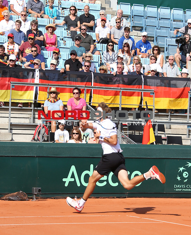 16.09.2016, LTTC Rot-Weiss-Berlin, Berlin, GER, Davis Cup, Deutschland vs. Polen, Auslosung, im Bild <br /> Jan-Lennard Struff (GER)<br /> <br />      <br /> Foto &copy; nordphoto / Engler