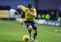 Callum O'Dowda of Oxford United heads forward during the Sky Bet League 2 match between Oxford United and Bristol Rovers at the Kassam Stadium, Oxford, England on 17 January 2016. Photo by Andy Rowland / PRiME Media Images.