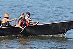 Canoe Journey, Paddle to Nisqually, 2016, Nisqually Canoes, Governor Jay Inslee, paddling to Olympia, Washington, 7-30-2016, Salish Sea, Puget Sound, Washington State, USA,
