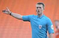 Referee Thomas Bramall<br /> <br /> Photographer Kevin Barnes/CameraSport<br /> <br /> The EFL Sky Bet League One - Blackpool v Walsall - Saturday 9th February 2019 - Bloomfield Road - Blackpool<br /> <br /> World Copyright © 2019 CameraSport. All rights reserved. 43 Linden Ave. Countesthorpe. Leicester. England. LE8 5PG - Tel: +44 (0) 116 277 4147 - admin@camerasport.com - www.camerasport.com