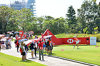 SINGAPORE - MARCH 02: Carlota Ciganda of Spain on the 5th tee during the third round of the HSBC Women's World Championship 2019 at Sentosa Golf Club - Tanjong Course, Singapore on March 02, 2019.<br /> .<br /> .<br /> .<br /> (Photo by: Naratip Golf Srisupab/SEALs Sports Images)<br /> .<br /> Any image use must include a mandatory credit line adjacent to the content which should read: Naratip Golf Srisupab/SEALs Sports Images