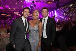 Matt Lissack, Polly James and Geraint Hardy.<br /> The Celebrity Cup 2015<br /> Celtic Manor Resort<br /> <br /> 04.07.15<br /> &copy;Steve Pope - SPORTINGWALES