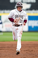 Travis McComack (31) of the Missouri State Bears rounds the bases after Derek Mattea (1) hit a homerun during a game against the Oral Roberts Golden Eagles on March 27, 2011 at Hammons Field in Springfield, Missouri.  Photo By David Welker/Four Seam Images