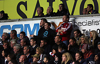 Pictured: Swansea supporters.<br /> Monday 16 September 2013<br /> Re: Barclay's Premier League, Swansea City FC v Liverpool at the Liberty Stadium, south Wales.