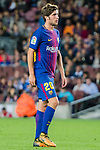 Sergi Roberto Carnicer of FC Barcelona reacts during the La Liga 2017-18 match between FC Barcelona and SD Eibar at Camp Nou on 19 September 2017 in Barcelona, Spain. Photo by Vicens Gimenez / Power Sport Images